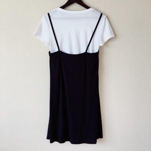 1e4ae7c319f8 Arizona Jean Company Dresses - Grunge Black and White T-Shirt Slip Dress